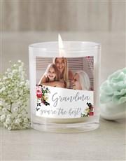 Personalised Grandma Photo Candle