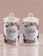Personalised Vintage Rose Candle Jar
