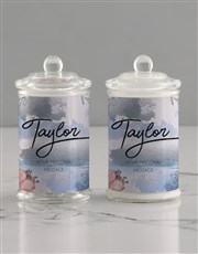 Personalised Watercolour Candle Jar