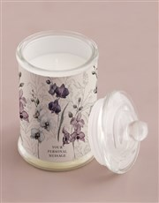 Personalised Orchid Candle Jar