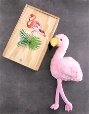 Personalised Fluffy Flamingo Crate