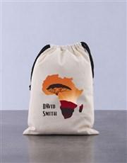 Personalised Rhino Drawstring Bag