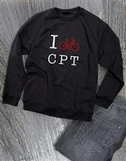 Personalised Love Cycling Ladies Sweatshirt