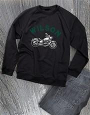 Personalised Motorcycle Club Sweatshirt