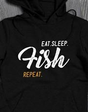 Personalised Eat Sleep Repeat Hoodie