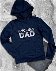 Personalised Cycling Dad Hoodie