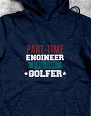 Personalised Full Time Golfer Hoodie