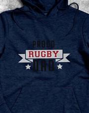 Personalised Proud Rugby Dad Hoodie