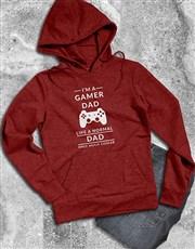Personalised Cool Gamer Dad Hoodie