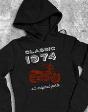 Personalised Year Classic Biker Hoodie