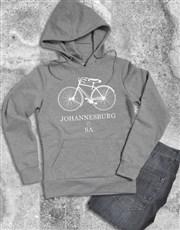 Personalised Bicycle City Hoodie