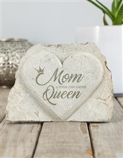 Personalised Mom A Title Stone Heart