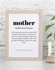 Personalised Mother Definition Framed Wall Art