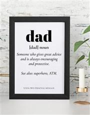 Personalised Dad NounWall Art