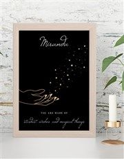 Personalised Made of Wishes Wall Art