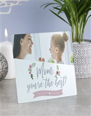 Personalised Mom You The Best Glass Tile
