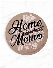 Personalised Home Is Where Mom Is Clock