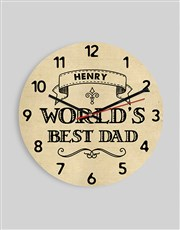 Personalised Worlds Best Dad Clock