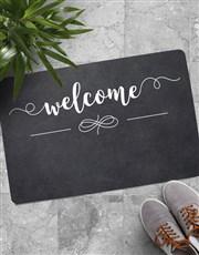 Personalised Welcome Family Est Doormat