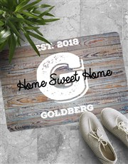 Personalised Home Sweet Home Doormat