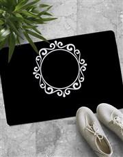 Personalised Sophisticated Mongoram Doormat