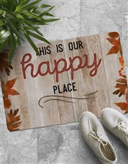 Personalised Happy Place Doormat