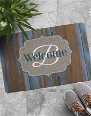 Personalised Wooden Look Doormat
