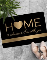 Personalised Home Is With You Doormat