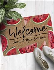 Personalised Welcome Watermelon Doormat