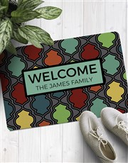 Personalised Colourful Family Dorormat