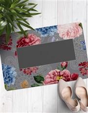 Personalised Floral Doormat