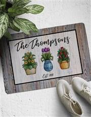 Personalised Pot Plant Doormat