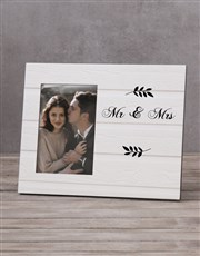 Personalised Mr & Mirs Date Photo Frame