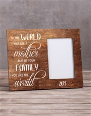 Personalised To the World Photo Frame