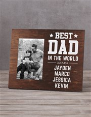Personalised Best Dad In The World Photo Frame