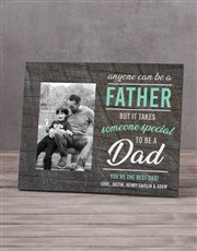 Personalised Anyone Can Be A Father Photo Frame
