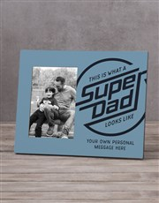 Personalised Super Dad Photo Frame