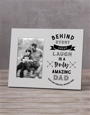 Personalised Truly Amazing Dad Photo Frame