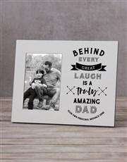 Personalised Truly Amazing Dad Photo Frame