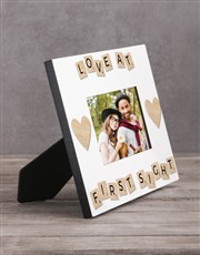 Personalised Love At First Sight Photo Frame