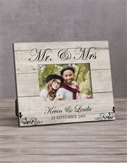 Personalised Mr & Mrs Photo Frame