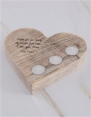 Personalised Hearts First Home Heart Candle Holder