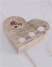 Personalised Mom Forever Heart Candle Holder