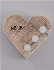 Personalised MOM Heart Candle Holder