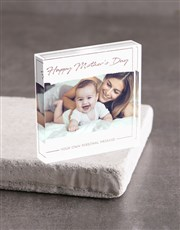 Personalised Happy Mothers Day Acrylic Block