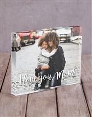 Personalised I Love You Mom Acrylic Block