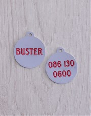 Personalised Buster ID Tag and Collar