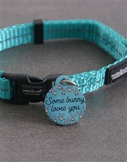Personalised Some Bunny ID Tag and Collar