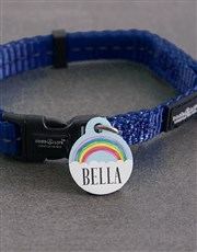 Personalised Rainbow ID Tag and Collar