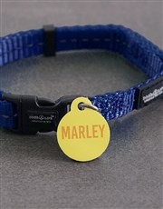 Personalised Yellow ID Tag and Collar
